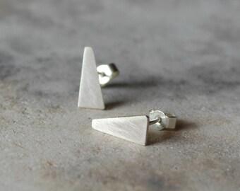 Geometric earrings sterling silver earrings minimalist earrings stud earrings asymmetrical earrings geometric jewelry - amejewels