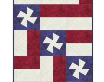"""Quilt Kit -""""Twisted Waves Table Runner Kit"""" - by Marilyn Foreman - Fabric by Maywood Studios Shadow Play Fabrics. Table Runner  18"""" x 66"""""""