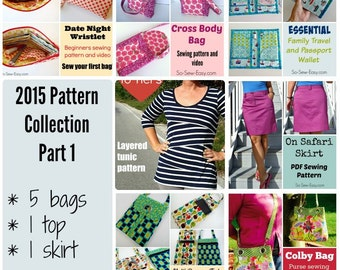 2015 Pattern Bundle Part 1 - 7 patterns