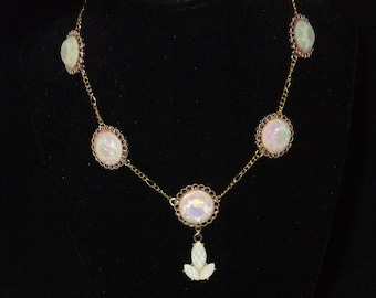 Opalescent Disc Necklace