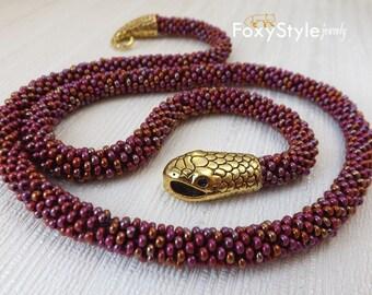 Crochet Jewelry Yoga Jewelry Boho Jewelry Bohemian Jewelry Burgundy Jewelry Layering Necklace Delicate Red Jewelry Ruby Garnet Bead Jewelry