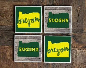 Oregon / Oregon Coasters / Oregon Gift / Eugene / Portland / Portland Oregon / Oregon Coaster / Oregon Wooden Sign / Oregon Home / Eugene