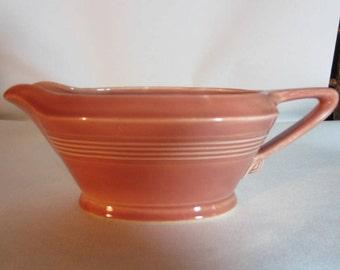Homer Laughlin Harlequin Pattern Sauce Boat in Rose
