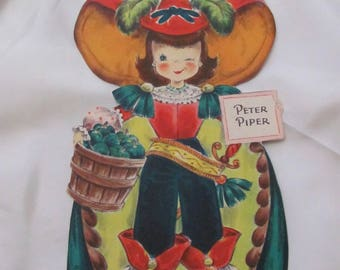 Greeting Card - Collectible Hallmark Vintage Birthday Card - Unused - Peter Piper Doll #16