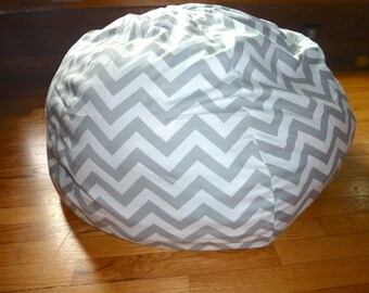 Grey U0026 White Chevron Bean Bag Chair Cover, Silver, Gray, Red, Yellow