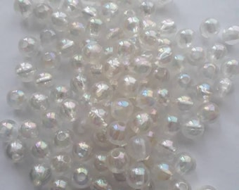 105x clear iridescent plastic beads