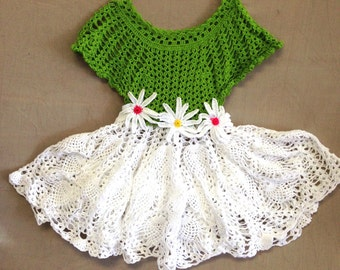 Crocheted party dress