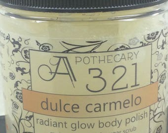 Dulce Carmelo Radiant Glow Body Polish Moisturizing Oil Scrub
