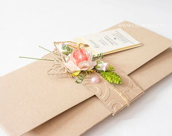 Card, Handmade envelope, Wedding envelope, Birthday envelope, Congratulations envelope, Money envelope, Money gift