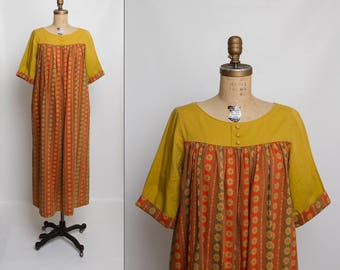 vintage 1960s Tori Richard dress | 60s long dress