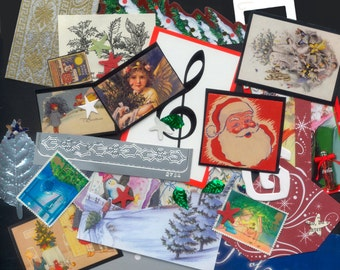 Christmas Kit - Perfect for ATCs, Greeting Cards, Handmade Ornaments, Collage, Mixed Media
