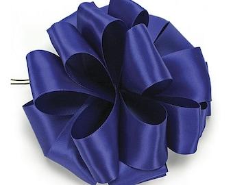 "5yds x 1-1/2"" ROYAL BLUE Double Faced SATIN Ribbon Woven Edge (Free Shipping!)"
