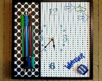 CLEARANCE SALE --- Last One ---- Wall Clock, Modern Wall Art, Wall Decor, Study, Gift for Girls, Boys, Office, Australia