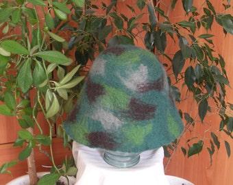 bath hat handmade felt gift