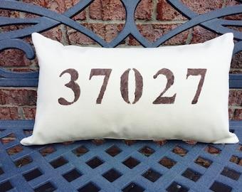Zip Code Throw Pillow