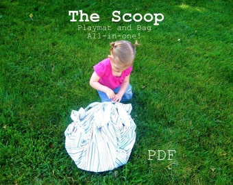 The SCOOP  Children's Blanket Play-mat Bag All-in-one  PDF  Ebook  Pattern Tutorial