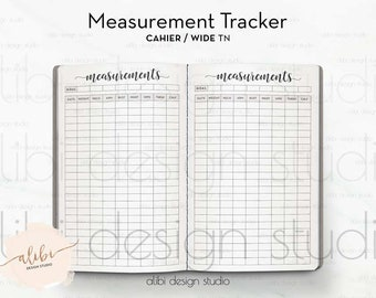 Bullet Journal Stickers Body Measurement Chart Page Stickers