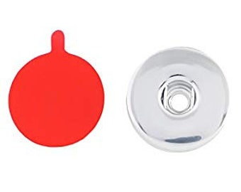 Snap Charm with Acrylic Sticker - Compatible with Gingersnaps - Ginger Snaps -  Magnolia and Vine - Noosa 18-20mm Base - Enamel Snap