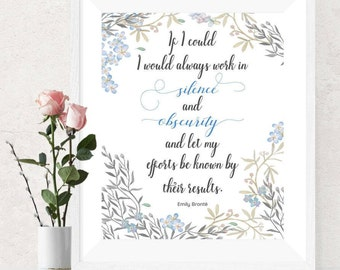 Emily Brontë Wuthering Heights author Printable Quote