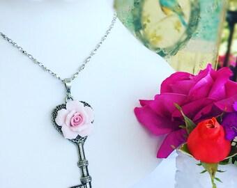 Key Necklace - Victorian - Statement Necklace - Romantic - KEY to ROMANCE