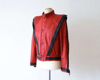 vintage 1984 original Michael Jackson leather Thriller jacket, authentic design by Metal, numbered, The Real Deal