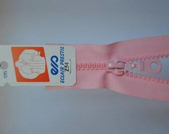 70cm separable zipper pale pink Z54 803 mesh plastic molded