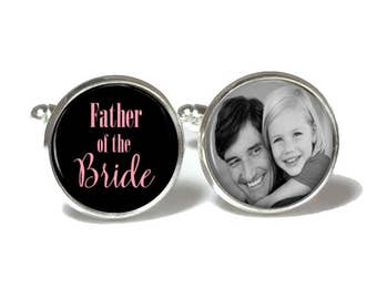 Father of the Bride Cuff Links | Custom Photo Cuff Links | Custom Wedding Gift | Style 732