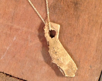 CALIFORNIA States of Love Bronze necklace