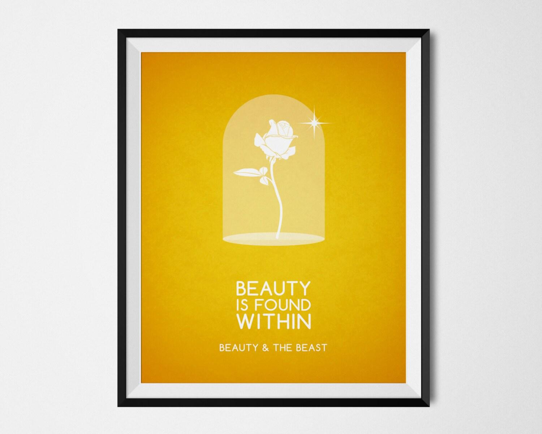 Disney Beauty and the Beast Poster Minimalist Print Disney