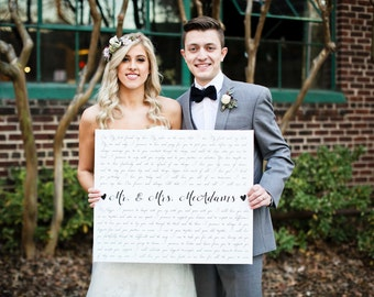 Custom Canvas Art, Wedding Gift, Anniversary, Personalized, First Dance Song, Wedding Vows