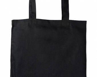 Heavy-weight Canvas Tote Bag (Black Colour)