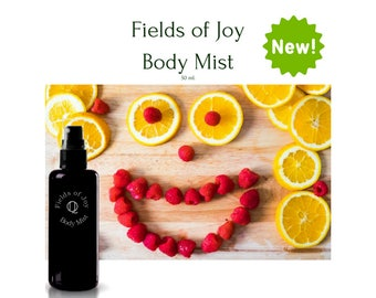 Fields of Joy Body Mist , Body Spray , Natural Perfume , Natural Fragrance , Natural skin care, by Quincessentials