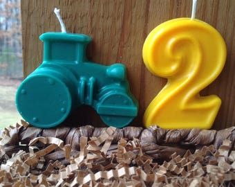 Tractor and number candle 6.00
