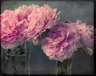 Romantic Peony Decor,  8 x 10 Print, Floral Art Print, Peony Photography, Still Life Photography