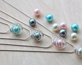 Pearl choker, floating pearl, single pearl, Gifts-for-bridesmaid, Wedding gift, Bridesmaid proposal, one pearl necklace, single pearl choker
