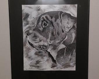 Stippled/Pointillism Animal Portraits