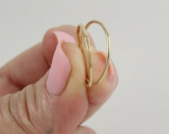 Super thin gold ring | Stackable ring | Ultra thin ring | Skinny gold ring | Simple gold ring | Minimal gold ring | Gold stacking ring