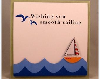 Wishing you smooth sailing card