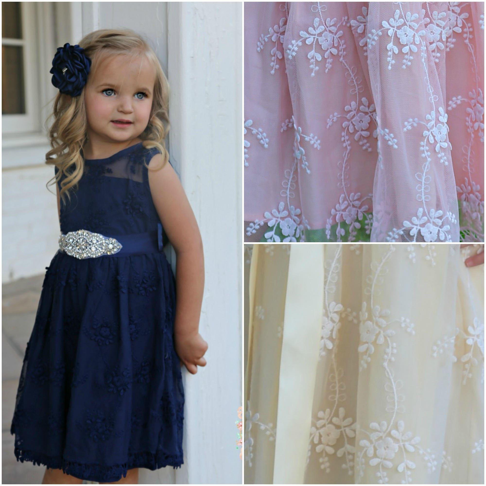 Navy blue flower girl dressnavy lace girl dress rustic zoom izmirmasajfo Gallery