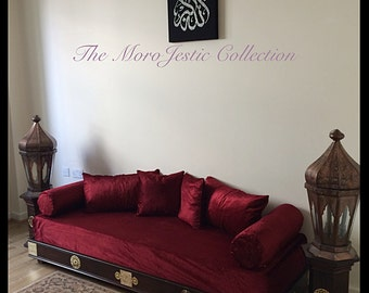 Luxurious Moroccan Sofa, Day-bed, Arabian Bench, Moorish Footstool, Ottoman, Mah-jong, Floor seatting, Furniture