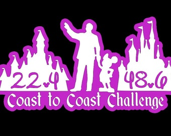 DUAL LAYER Coast to Coast Decal with Distances