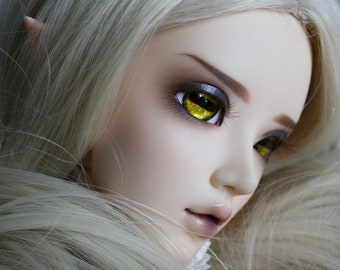 BJD eyes Doll eyes Hand made available in 12/14/16/18/20/22/24mm Golden Goat made to order