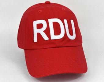 RDU Raleigh-Durham Baseball Cap