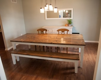 Harvest Kitchen Table Farmhouse dining table with tapered legs rustic harvest 96 farmhouse table solid wood farmhouse dining table farmhouse kitchen table built workwithnaturefo