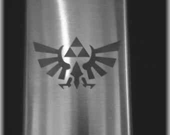 Zelda Etched Flask by Jackglass on Etsy