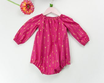 Baby girl romper, baby romper, long sleeve romper, cake smash outfit, toddler romper, newborn outfit, baby shower gift, going home outfit