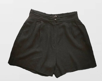 Hight Waisted Shorts / Black