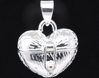 Textured Heart Prayer Wish Box - Clip On - Ready to Wear