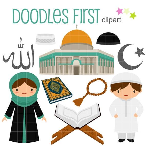 islamic culture clip art for scrapbooking card making cupcake rh etsy com islamic clipart black and white islam clip art
