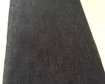 Canvas fusible of 10 cm wide black ribbon